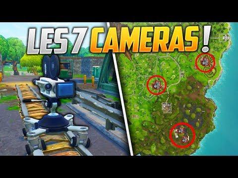 trouver 7 cameras sur fortnite battle royale - 7 camera locations fortnite