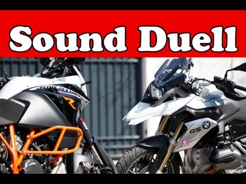 SOUND-Vergleich | BMW R 1200 GS VS KTM 1190 Adventure R |  2013 Foto