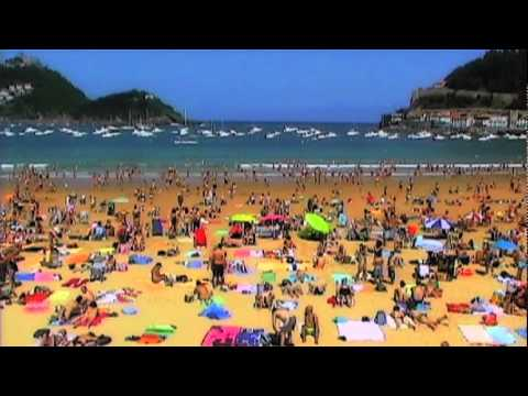 At The Beach In San Sebastian Spain By Brewshow