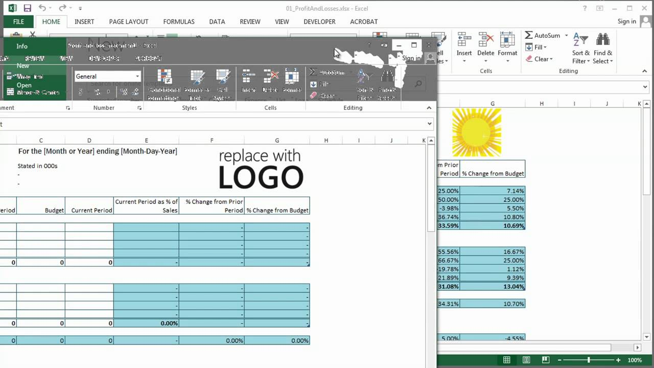 How to Get Microsoft Excel to Do Profits Losses Using Excel – Excel Profit and Loss Template