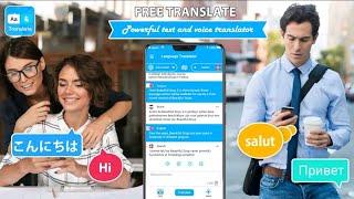 Free Translate All Language Translation App    How To Use All Language Translation Apps screenshot 1
