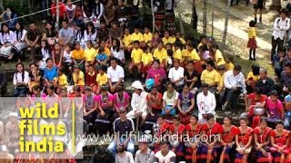 Tribes of North-east India at Anthurium festival - Mizo, Pawi, Reang