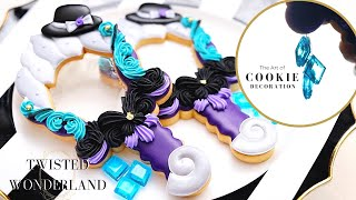 Satisfying Cookie Decorating | Ursula /Octavinelle Inspired Cookies | Disney/Twisted Wonderland