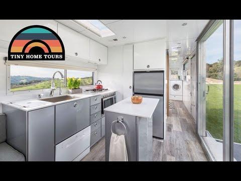Custom Travel Trailer Tiny Home - Elevator Bed & Fold Down Patio