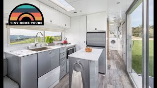 Custom Travel Trailer Tiny Home - Elevator Bed & Fold Down Patio