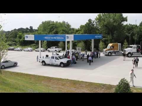 Piedmont Natural Gas - Nashville CNG Fueling Station - YouTube