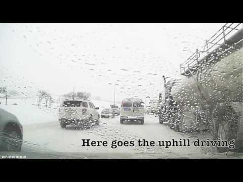 Calgary Winter Driving in Slick and Icy Roads February 06, 2017