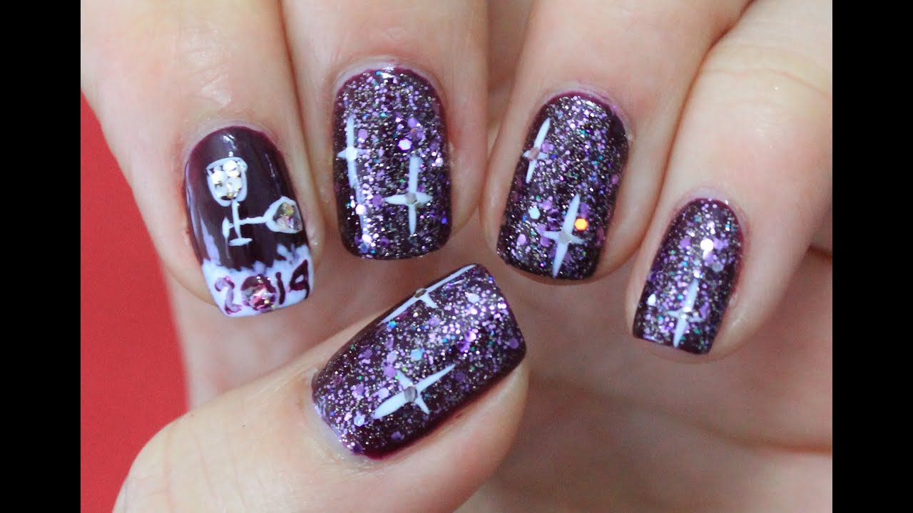 New Year Nailart 2014 Youtube