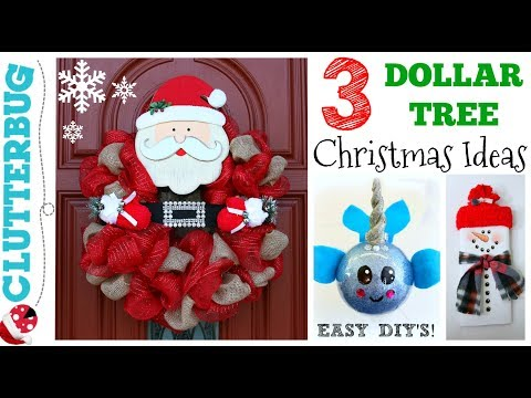 3 DIY Dollar Tree Christmas Ideas