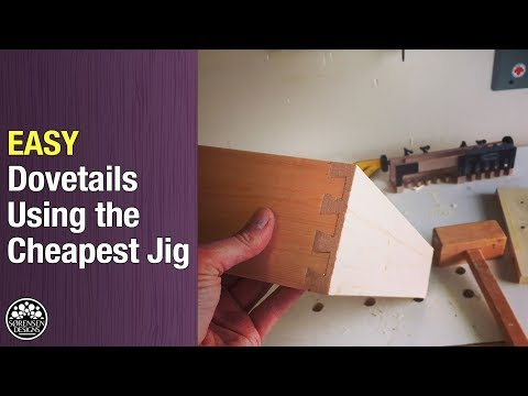 Easy Dovetails Using The Cheapest Jig
