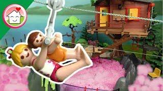 بيت الشجرة فوق حوض السلايم - عائلة عمر - أفلام بلاي