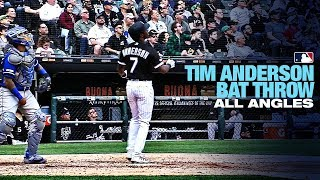 All Angles of Tim Anderson's HR + Bat Throw