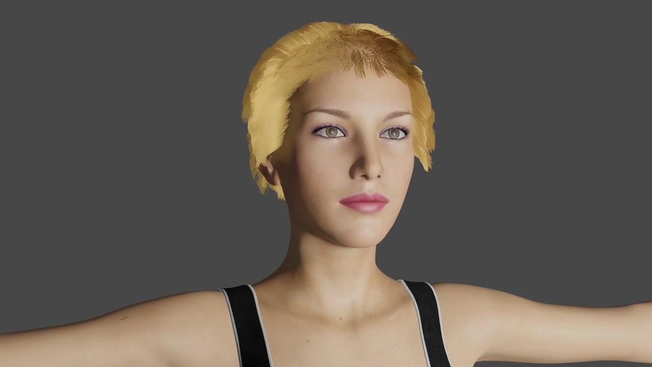 Daz3D Genesis 3 model rendered in Blender EEVEE