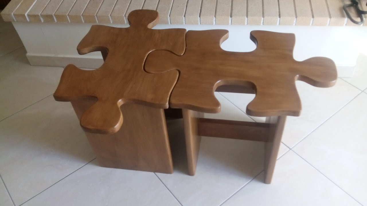Merveilleux DIY Puzzle Coffee Table Or Stool How To Simply Make It ...   YouTube