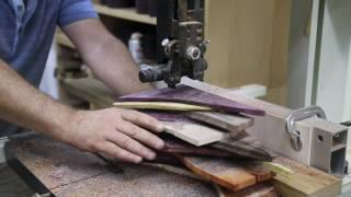 Заготовка рукояти ножа, изготовленная из обрезков торцевых вставок