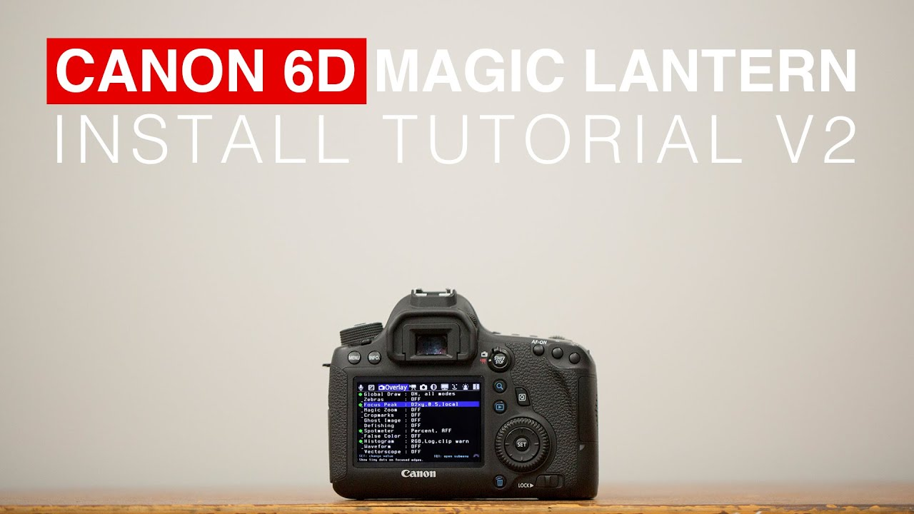 Drivers for Canon EOS 6D Magic Lantern