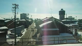 【北陸本線】車窓 521系普通 @~高岡到着