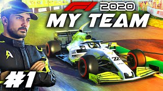 F1 2020 MY TEAM CAREER Part 1: Our Journey Begins in F1 for our 'Create A Team' Career Mode!