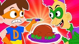 Super Drew VS Pranksgiving! Thanksgiving Gone Wrong! | A Stupendous Drew Pendous Superhero Story