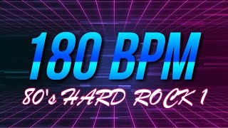 180 BPM - 80's Hard Rock - 4/4 Drum Track - Metronome - Drum Beat