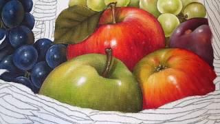 Pintura de Maçã Verde