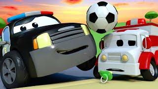 La Super Patrulla - El Misterio del Balón de Fútbol - Auto City | Dibujos animados de carros