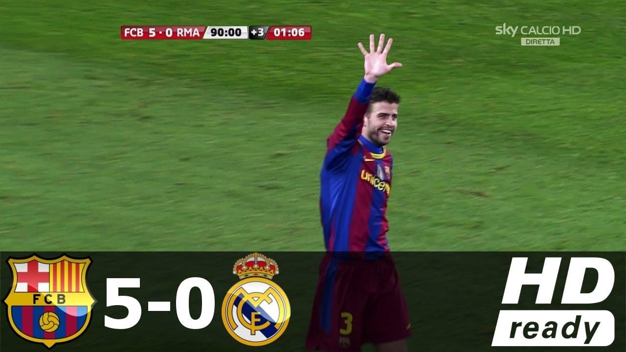 Барселона реал мадрид 5 0 hd