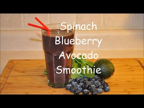 Spinach Blueberry Avocado Smoothie / Weight Loss Smoothie