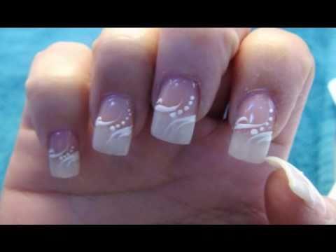Wedding Elegant American Manicure Nail Design Youtube