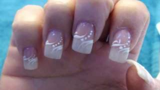 wedding -Elegant American Manicure Nail Design