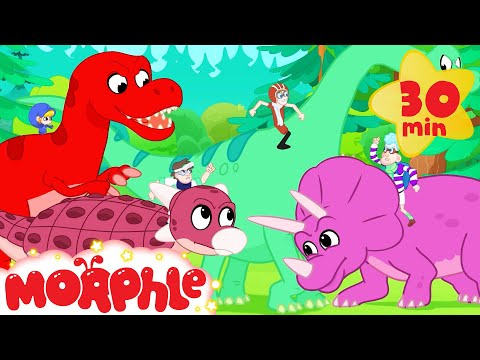 Racing Dinos - Mila and Morphle | Cartoons for Kids | My Magic Pet Morphle