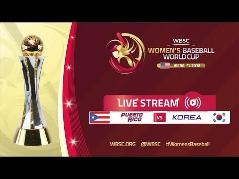 Puerto Rico v Korea - Women's Baseball World Cup 2018 streaming vf