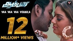 Vaa Vaa Vaa Vennila - Official Video Song | Aambala | Vishal,Hansika | Sundar C | Hiphop Tamizha