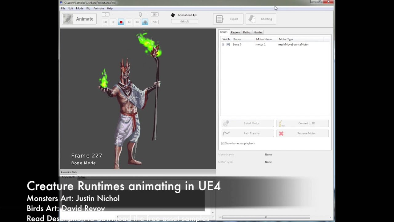 Kestrel Moon: Creature Animation 2D for UE4 - Unreal Engine