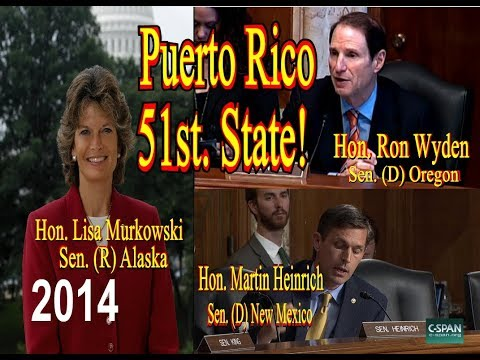Energy and natural resources committee hearings  about the political status of Puerto Rico..