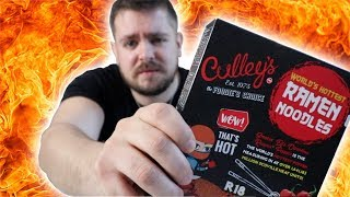 EXTREME SPICY NOODLE CHALLENGE ENGLISH GUY | Bradley Chlopas