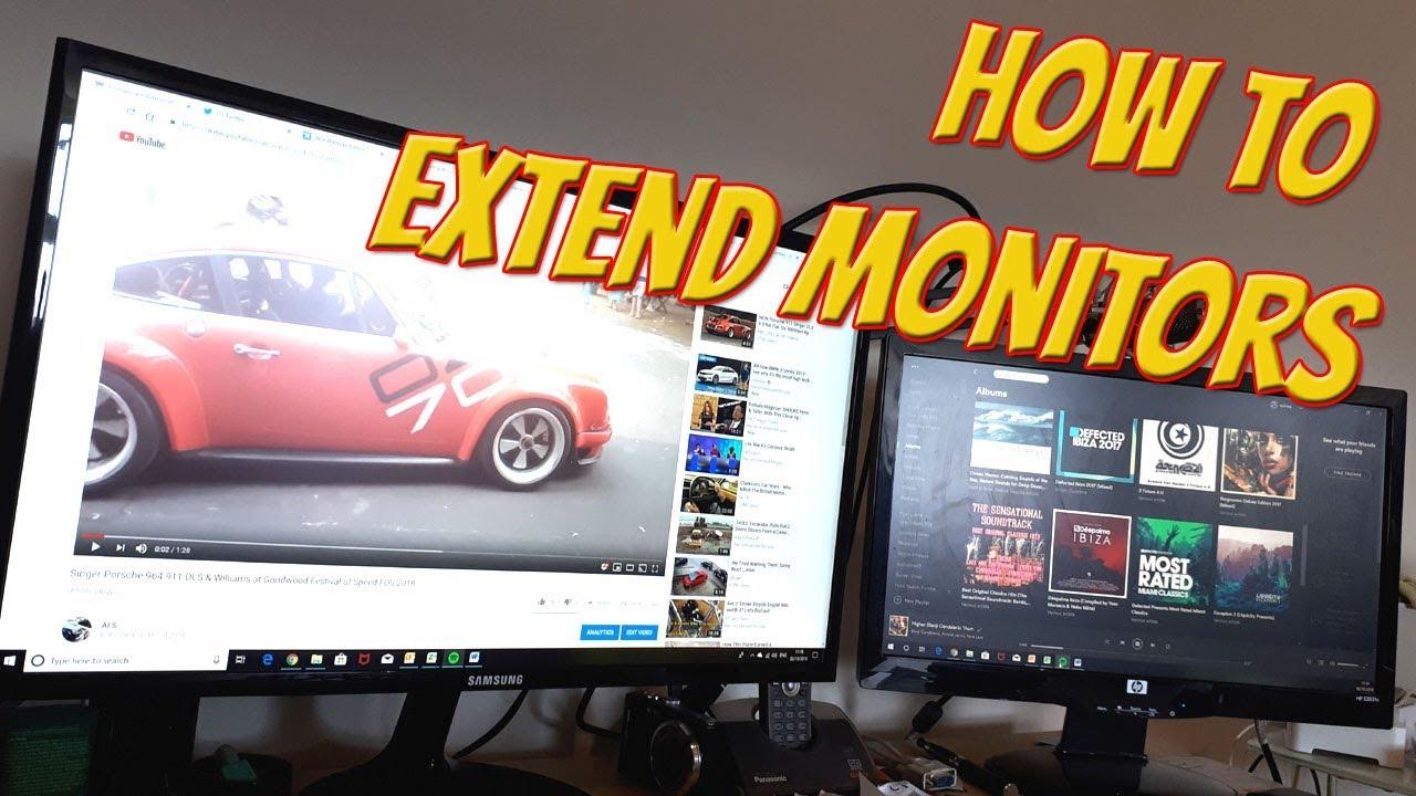 hook up 2 monitoren op PC