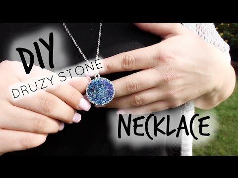 DIY Druzy Stone Necklace!