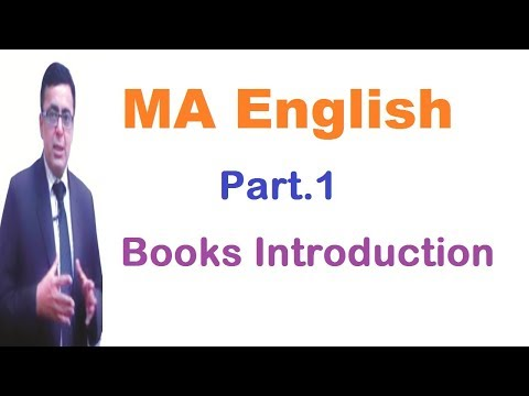 MA English Part.1 Books Introduction
