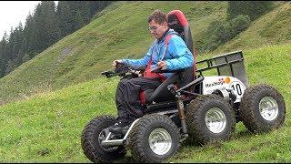 Extrem Gelände Rollstuhl HexHog Wildsau