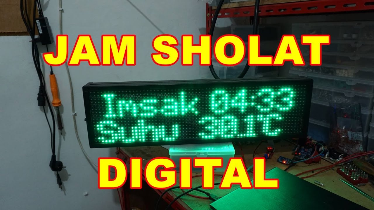 Modul Jadwal Sholat Digital Mini Controller P10 Wifi Android