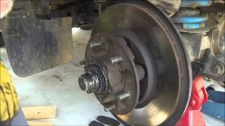 GQ brake rotor removal