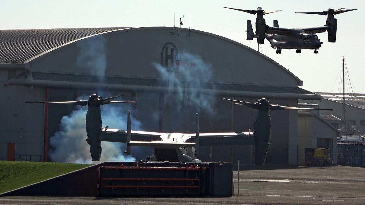 SMOKEY | V-22 Osprey takeoff from Portland