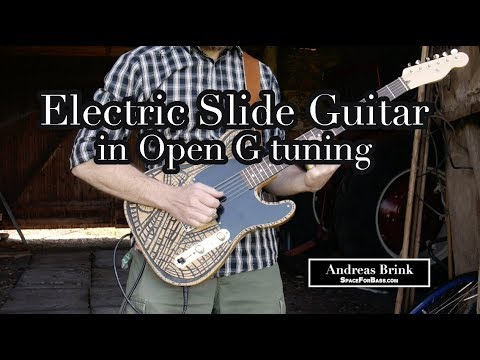 Electric Slide Guitar Blues in Open G