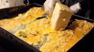 1400원짜리 계란 토스트 korean style omelet egg toast / korean street food