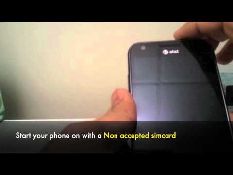 UNLOCK SAMSUNG FOCUS FLASH i677 - How to Unlock At&t Samsung Focus Flash SGH-i677 by Unlock Code Pin