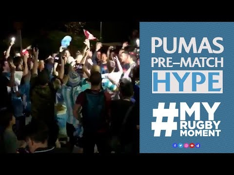 Los Pumas get fired up with fans | #MyRugbyMoment