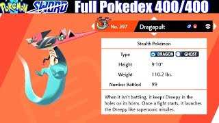 Pokemon Sword & Shield - Full Pokedex / All 400 Pokemon