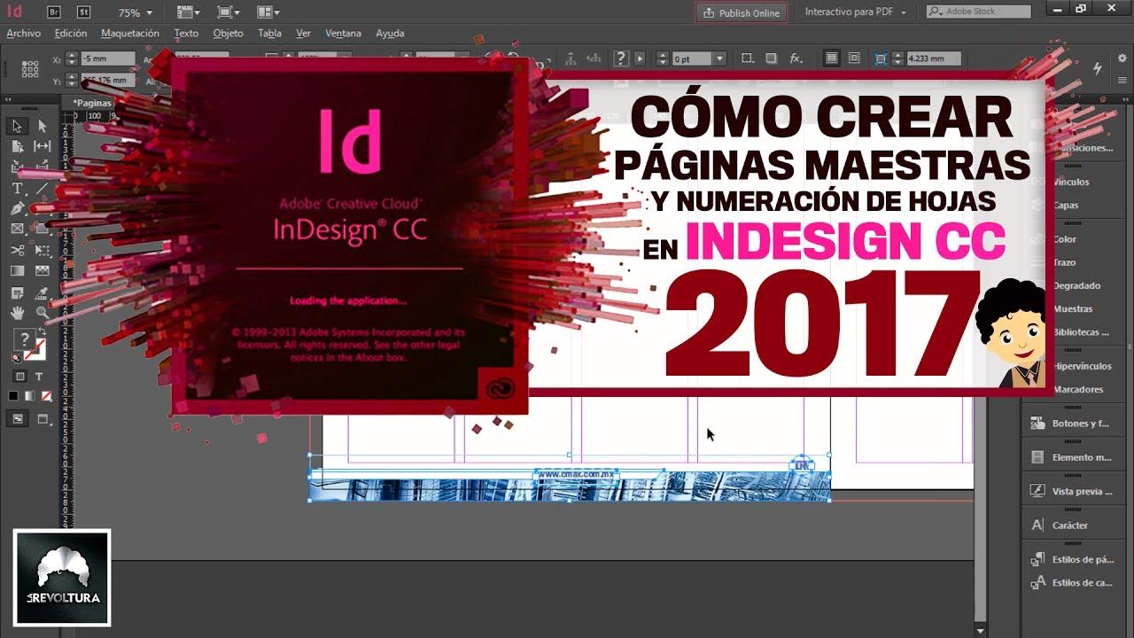 Adobe InDesign CC 2017 | Tutorial Cómo crear páginas maestras y ...