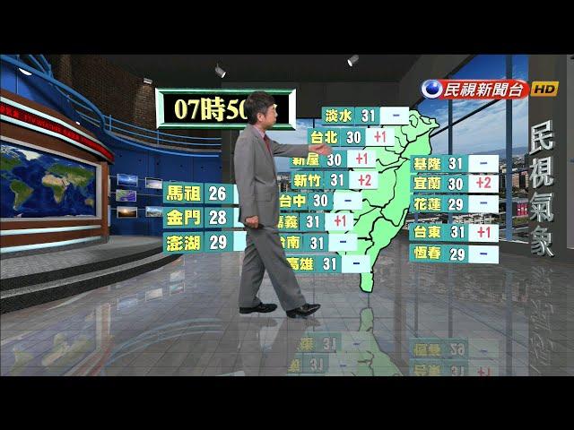 2019/06/21 週五晴朗炎熱 中南部沿海清晨局部雨-民視新聞